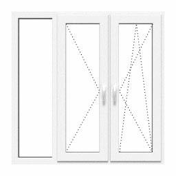 Okno oszklenie stałe, rozwierane, uchylno-rozwierane